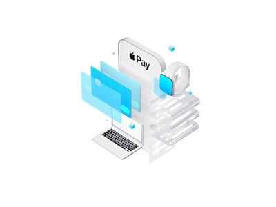 Apple Pay illustration ui animation cards credit cards blue payment creditcard 3d simple white mockup app app design ios application illustration apple apple pay