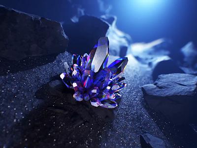 Crystal illustration zoom graphicdesign branding premium diamonds crystals aep glasgow glass illustration c4d motion animation artwork crystal art rendering redshift render