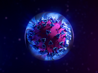CV19 deactivation illustration health app healthcare health illustraion c4d blender3d blender reflection glass blue round sphere icon animation 3d virus corona virus corona coronavirus