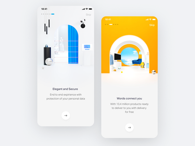 Onboarding clean visual onboarding screen c4d ux 3d ui ios14 ios app home start starting onboarding ui white simple branding illustration clean onboarding
