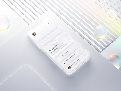 Planner home screen UI simple white main ux 3d ui motion animation illustration landing homepage mockup iphone12 ios app planner app schedule planners home ios planner