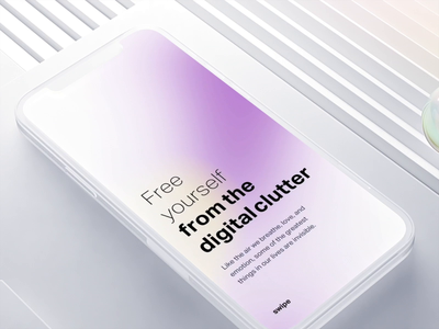 Onboarding text effect onboarding swipe ux ui animation typefaces ios iphone mockup clutter textile white simple clean interface simple alive background slide effect typeface text
