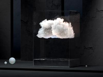 AR weather visualization vr design illustration snow rain water clouds forecast motion art direction ios artwork art procedural generative cube cloud weather vr ar