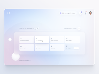 Natural AI desktop UI voice simple clean interface simple calm ecommerce shopping food buy ui  ux landingpage home screen homepage ux uidesign ui design web desktop landing home ui