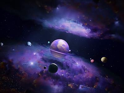 Galaxy CGI scene aep c4d illusion branding motion illustration 3d animation presentation background intro splash planet globe