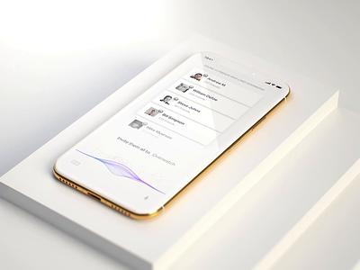 Natural UI Design philosophy conceptual chat movie after affects c4d mockup design iphone gold 3d animation motion ui voice assistant concept design organic concept art sound wave voice concept