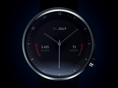 Sport Watch face design c4d branding motion ui ux milk os analysis steps heart alarm fade intro animation clock operating system os
