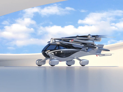Aska flying car 3D simulation brand design c4d animation illustration 3d clouds round interior car vehicle machine future mobility aircraft drone electric suv flying car simulation