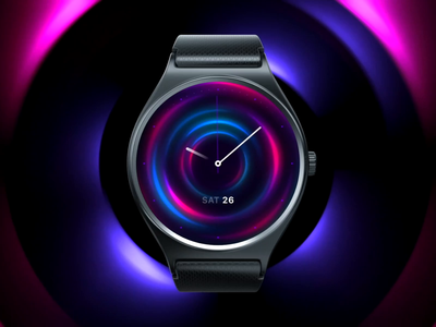 Digital watch face design colorful os operating system brand branding motion google wearos design watch faces wearable android oem digitaloem luxury clock art animation loading face watch