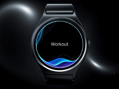 Wearable workout UI watchos 3d animation motion ui hobbits healthy care health active running bike run speed work track tracker fitness sport workout