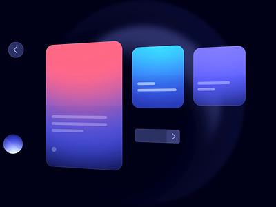 Visual UI story milkinside graphic design logo vector shapes animated identity brand branding design ux illustration 3d animation motion ui milkinside video demo visual story