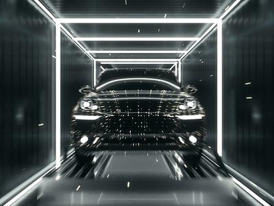 Milkinside vehicle garage graphic design c4d platform trading premium luxury video demo cgi branding design illustration 3d animation motion ui vehicle cars automotive brands