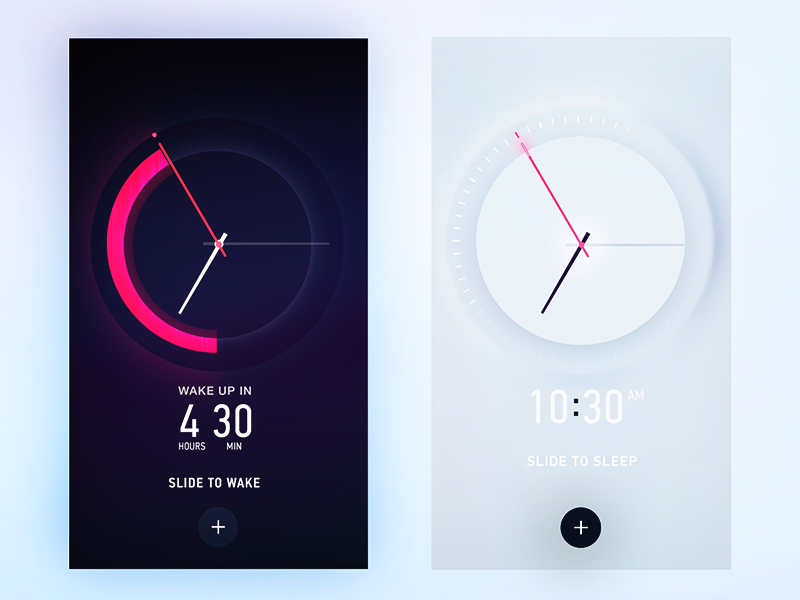 Alarm Clock Skin material abstract icons shadow circle plus iphone6s ios watch clock alarm