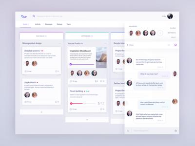 Workflow board UX