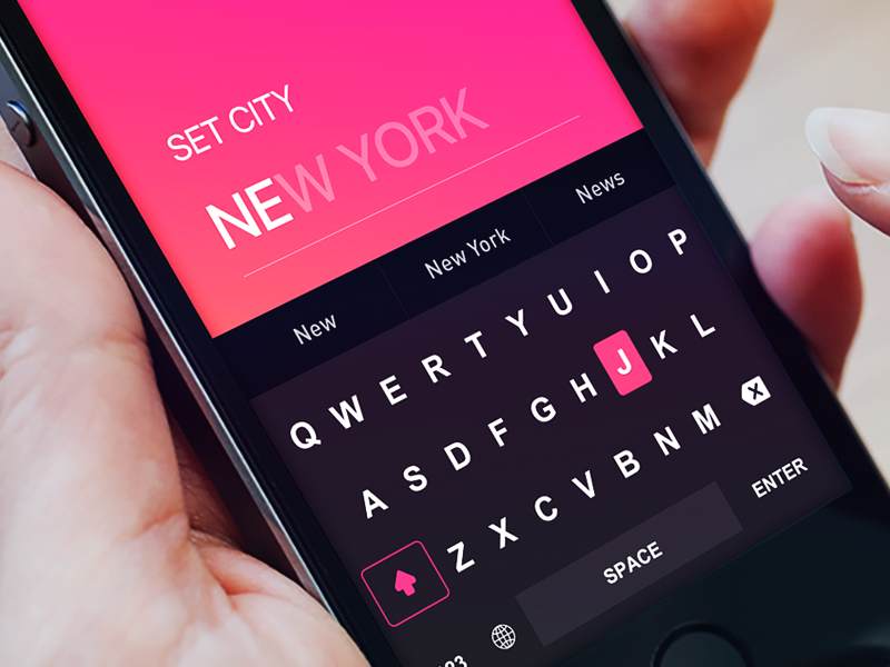 input keyboard for Tinder Travel Concept by Fantasy typo mapping newyork fantasy travel tinder keyboard input colors