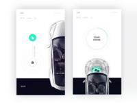 Tesla control center for Smart Home app by Fantasy