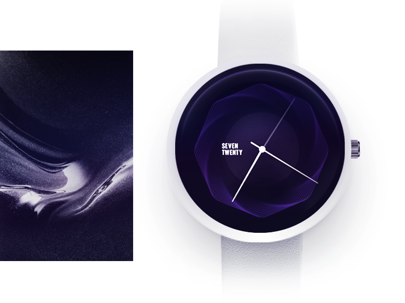 Simple Watch face concept  analog white clock simple time wake up sleep words concept ui watch