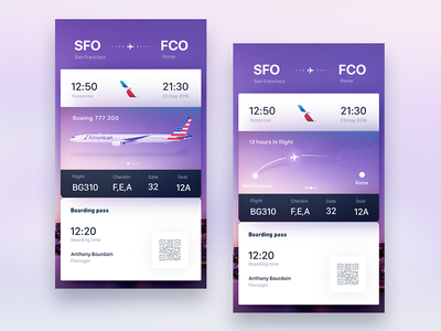 Tickets for Tinder Travel concept exploration by gleb material cards bg visual ux ui design exploration font typo tinder tickets