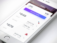 Airlines booking UI for fantasy