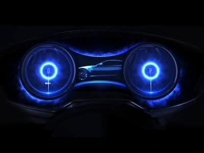 Hybrid car cluster design electric brandbook design speed circle 3d automotive design cars automotive animation motion ui