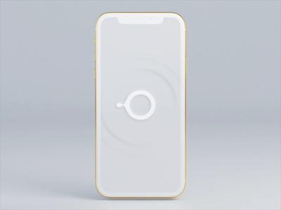 Organic OS interface voice wave simple animation clean simple clean interface white simple simplicity c4d circle ai animation motion art organic art ui  ux ui interface os organic