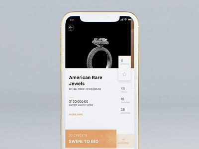 Luxury ecommerce UI design mockup gold ios 3d c4d design illustration ux flow animation button swipe confirmation ui art diamonds luxury game payment money ecommerce
