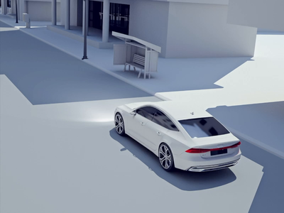 Parking assistant visual 3d c4d clean white city rear automotive car audio vehicle video animation animation parking lot illustration parking app visual audi video assistant parking