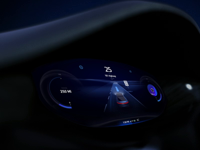 EV instrument cluster design self driving electro blue electric car loading intro splash art motion animation dashboard ui car dashboard cluster instrument automotive auto cars car driving autonomous