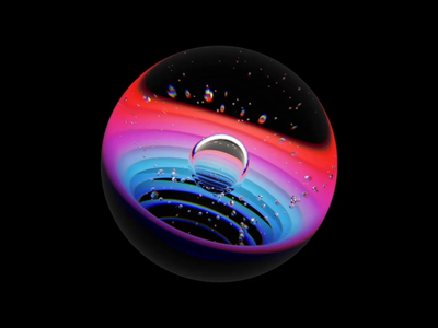 Sphere Art c4d aep branding logo circle 3d illustration gravity water fx houdini art artic design machine learning artificial intelligence elements animation ui motion