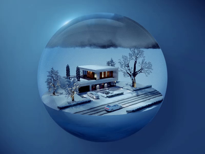 Home icon aep animation logo design automotive ios motion illustration life os smarthome car home glass transperent circle 3d c4d icon ui