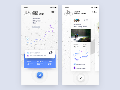 Plan a bicycle ride simple clean white maps navi routing icon accept ux ui navigation map booking travel plane ride bicycle