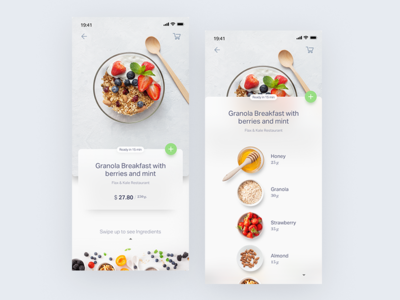 Natural AI food UI visual user interface illustration user experience userinterface ios ux ecommerce shopping add receipt voice os natural ai ui food