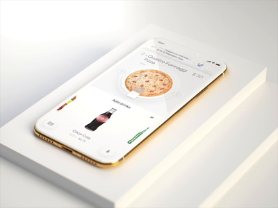 Ordering pizza immersive experience for Natural AI purchase food browsing discovery choose payment price collaboration topic 3d userexperience userinterface ux ui animation interaction immersive instacart pizza order