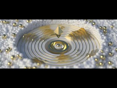 Brand vision aep motiongraphics simple logo branding design branding illustration motion animation lighting light texture air simple white gold ball futuristic future vision visual
