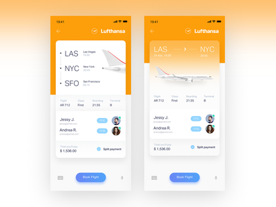 Gradient flight ticket UI design ios icons flight ticket simple clean aircraft planet booking flight search product user experience user interface interface ui flight booking tickets flight app