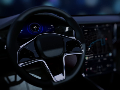 Autonomous driving experience for Seres EV navigation traffic icons turn steering wheel interior illustration ui motion animation interaction supercars cars auto automotive vehicles user experience interface vehicle autonomous