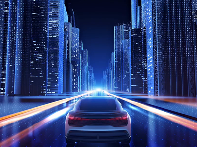Automotive CGI illustration 3d illustration branding automotive view rear design motion cgi building lights city speed electricity hmi electric car vehicle audi future