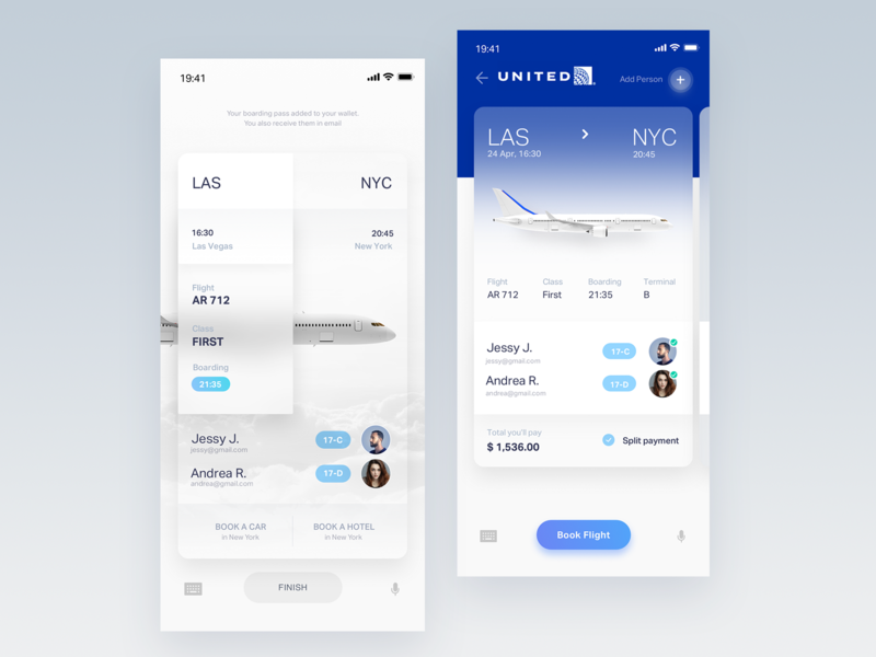 Flight ticket UI design flight search 3d ux flight app minimal simple design book booking flow flight booking userinterface user ui flights aircraft plane simple white flight