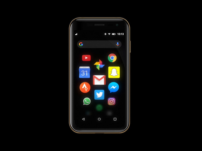 Palm mobile OS google search player homepage home landing small phone aep ux animation motion ui iconset icons android launcher os operating system