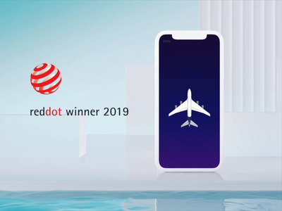 Red dot award winner UI 3d animation motion germany ui design reddot winners ae aep iphone mockup ios home screen home airbus ui winner