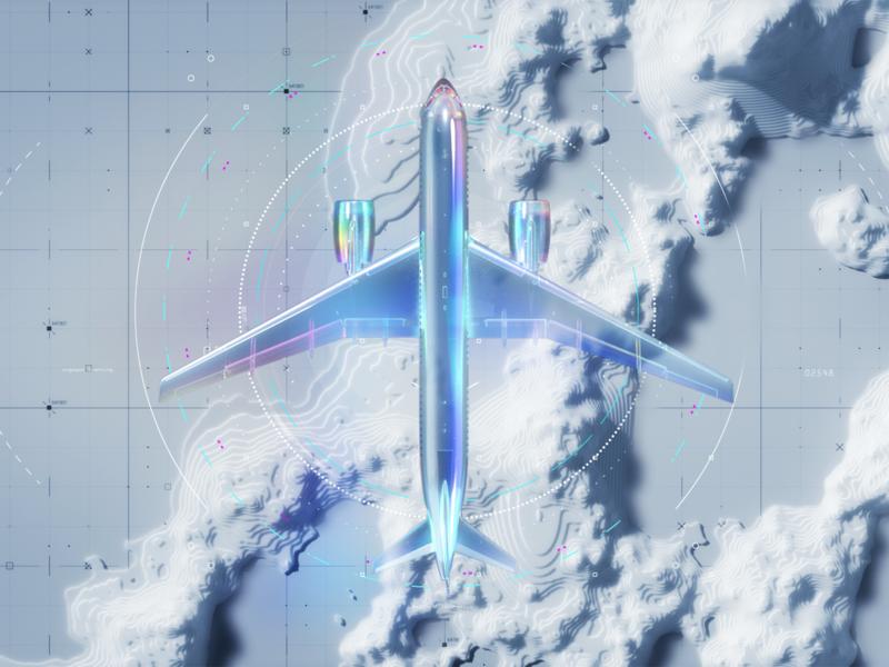 Airport branding CGI scene app brandidentity branding premium luxury art scenery c4d ai aep 3d ux animation motion ui aircraft airport scene cgi
