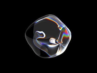 Liquid art motion design for AI product realistic glass bubble circle ios c4d ai aep 3d ux ui motion animation liquidmotion liquid animation