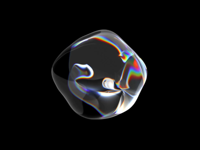 Liquid art motion design for AI product