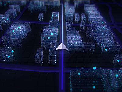 Future of HMI navigation design futurism digital map navigation navi future branding c4d ai aep 3d ui motion animation car automotive