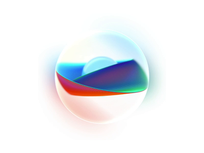 Pearls with wave for AI product website brand branding c4d aep 3d element3d render wave art artist voice assistant voice icon element ui ai artificial intelligence pearls animation