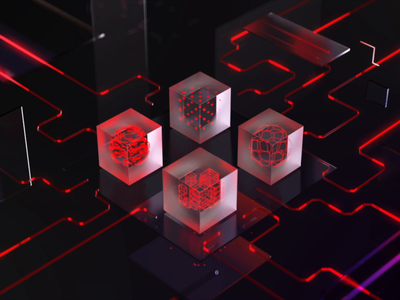 Glass cube transition website home cg product finance branding design branding illustration c4d aep ux 3d animation cubes artist art motion transition cube cgi