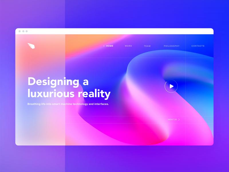 Colorful web site UI illustration website design c4d motion animation 3d art art illustraion 3d icon page home main landing webdesign color ui website web
