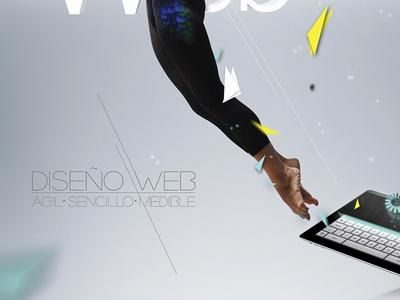 Agil - Sencillo - Medible (zoom) bird fly jump dancer paper web sencillo agil medible colibri green turquoise turquesa amarillo