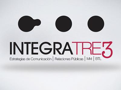 Integra Tre3 logo identity identidad mkt btl rp comunicación comunication