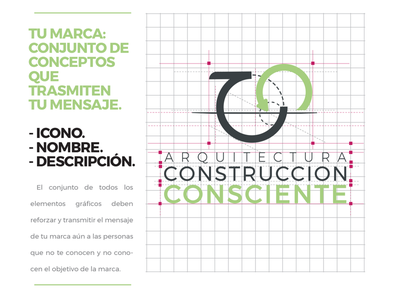 Construcción Consciente logo interiorism green cc inspire nature bio logo architecture
